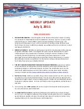 Weekly update 30 june 2011