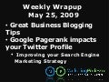 Business Blogging Tips and Google PageRank's Impact on Twitter