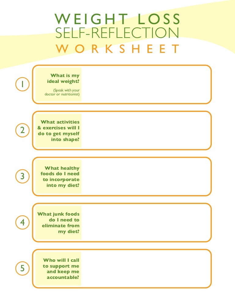Weight loss-self-reflection-worksheet