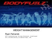 Weight Management By Ryan