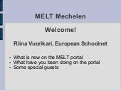 MELT Summer School_Welcome Mechelen