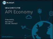 Welcome to the API Economy: Developing Your API Strategy