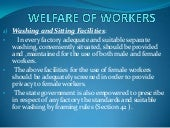 Welfare of workers