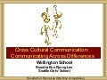 Wellington 60 Min Cross Cultural Communication