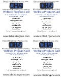 Wellness Promotional Testing Card