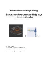 Sociale media in de opsporing   Een...