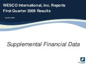 Q1 2009 Earning Report of WESCO Int...