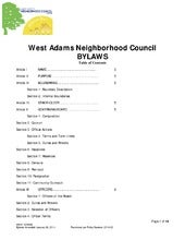 West Adams NC Bylaws