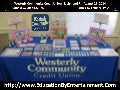 Education By Entertainment Program Display at the Westerly Community Credit Union Richmond, Rhode Island Branch - August 27, 2014