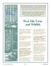 West Nile Virus and Wildlife