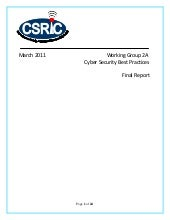 2011 FCC CSRIC WG2A Cyber Security ...