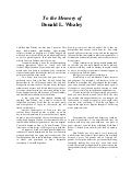 To the Memory of Don Whaley