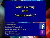 What's Wrong With Deep Learning?