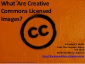 What Are Creative Commons Licensed ...