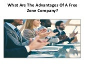 What are the advantages of a free zone