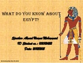 What do you know about EGYPT ? (Dec...