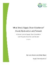What Drives Supply Chain Excellence...