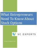 What entrepreneurs need to know about stock options