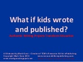 What if kids wrote and published