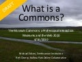 What is a commons? For Museum Commons: A Professional Interaction, Museums and the Web 2010