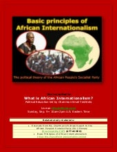 What is African Internationalism , ...