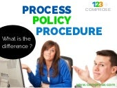Process, Procedure, Policy - What is the difference?