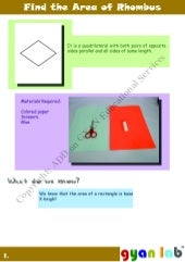 What is Area of Rhombus