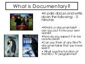 What is documentary - realist conventions