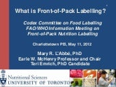 What Is Front Of Pack Labelling_2013
