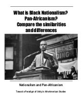 What is Nationalism  vs Pan-african...