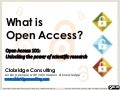 What is Open Access? An Introduction to OA