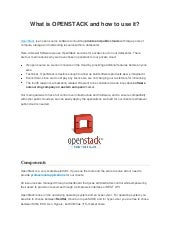 What is OpenStack and how to use it