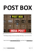 What is post box