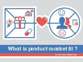 What is product market fit ?