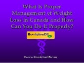 What is Proper Management of Weight...