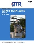(Part 2) Special Report: What Is Signal Level?