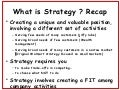 What Is Strategy Recap