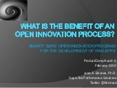 What is the Benefit of an Open Innovation Process?