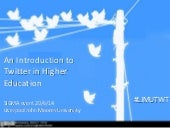 Introduction to Twitter in Higher E...