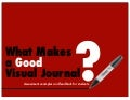 What Makes a Good Visual Journal? (assessment examples)