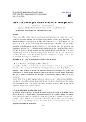 What makes an english teacher to st...