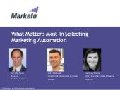 What Matters Most: Tips for Selecting Marketing Automation