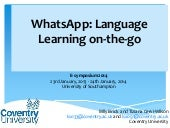 Whatsapp: Language Learning on-the-go