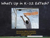 What's Happening in K-12 Educational Technology - October 2014