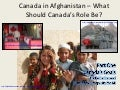 What should canadas role be