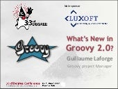 Whats new in Groovy 2.0?