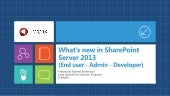 What's new in SharePoint Server 201...