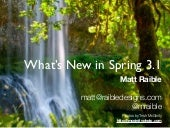 What's New in Spring 3.1