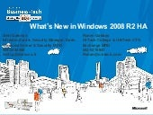 Whats New In Windows 2008 R2 High A...