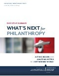 Monitor Institute - What's Next for Philanthropy: Executive Summary